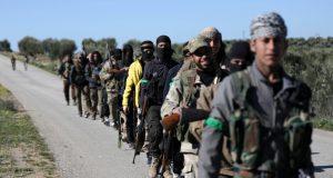 مقاتليين سوريين في ليبيا