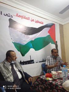 الأستاذ عبدالمجيد راشد ممثل حزب تيار الكرامة خلال لقاء المنصورة